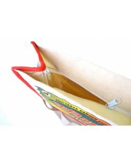 Plátěná taška přes rameno s barevným tiskem Karishma tea , 29x36x13cm