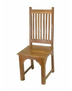Židle z antik teakového dřeva, 46x46x110/46cm