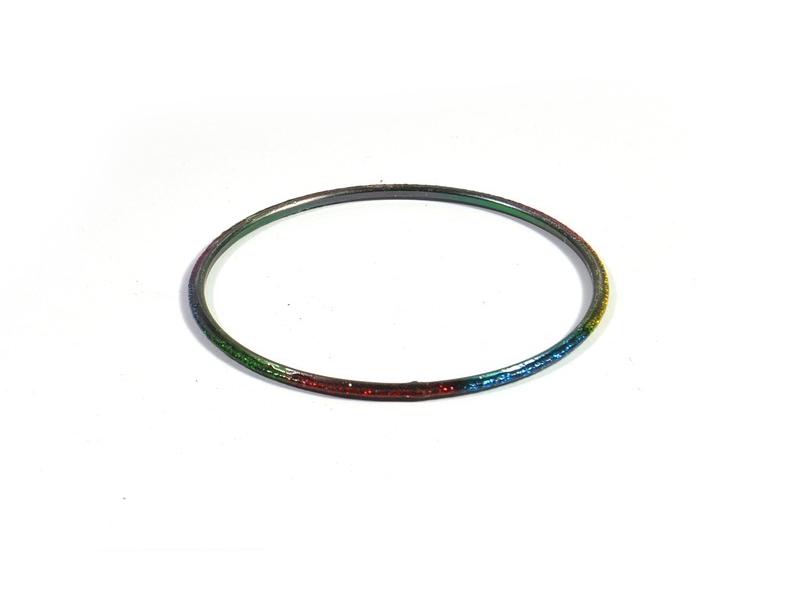 Kruhový náramek se třpytkami, duhový