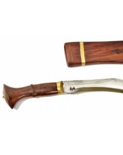 """Khukri Sirupate 16"""", nůž 46cm, čepel 33cm, dřevěné pouzdro i rukojeť"""