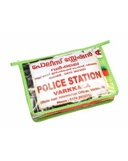 "Neceser, recyklovaný plast, ""Police station Varkkala"", 20x28x9,5cm, zip"