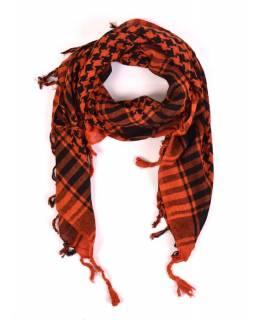 """Šátek, """"Palestina"""", oranžovo/černý, 100x100cm"""