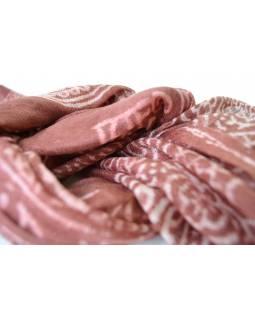 Šátek - bavlna, mantra, hnědý, 130x62cm