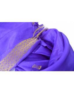 Šátek - polyester, sárí, královská modř, 177x57cm