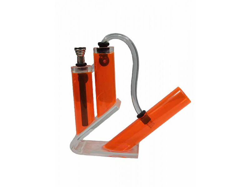 Bong - akryl, 3 trubice, oranžová