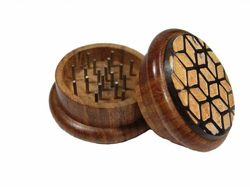 Drtička - rohovina + dřevo, vzor hvězda