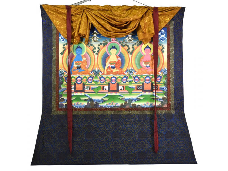 Thangka, Buddha, 105x79cm