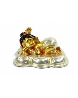 Soška, Ganeš baby, měď, zlaceno, 10x7 cm