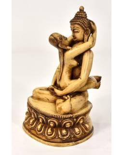Buddha Shakti, pryskyřice, bílý, 20cm