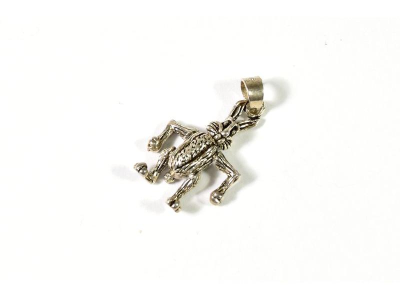 Stříbrný přívesek ve tvaru králíka, pohyblibý, AG 925/1000