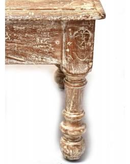 Konferenční stolek z teakového dřeva, 159x68x49cm