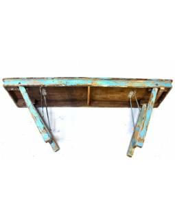 Stůl z teakového dřeva, skládací nohy, 181x44x78cm