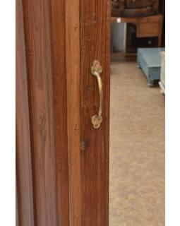 Šatní skříň se zrcadlem vyrobená z teakového dřeva, 66x42x180cm