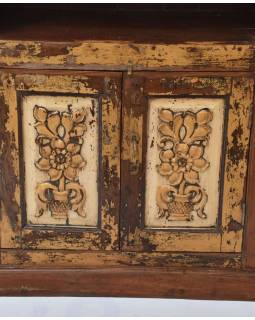 Knihovna vyrobená ze starého portálu, teakové a mangové dřevo, 99x52x209cm