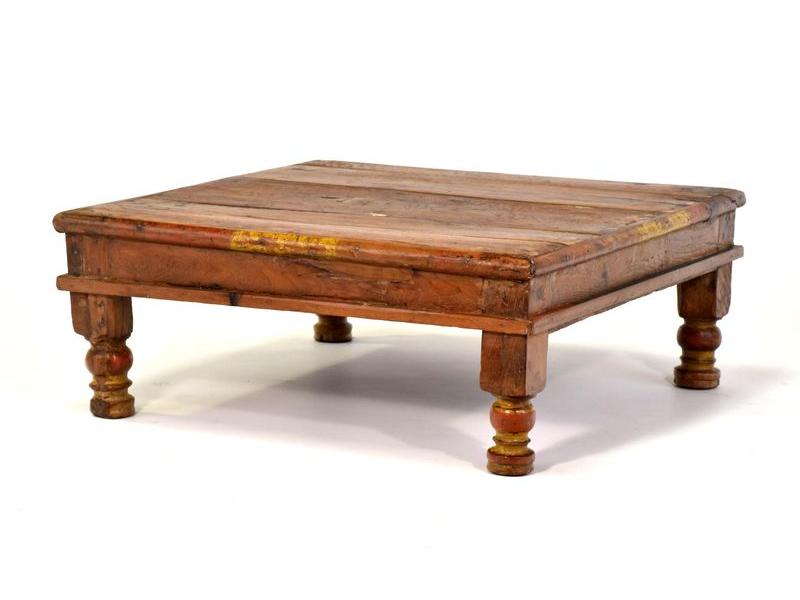 Čajový stolek z teakového dřeva, 51x51x20cm
