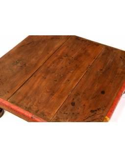 Čajový stolek z teakového dřeva, 52x51x20cm