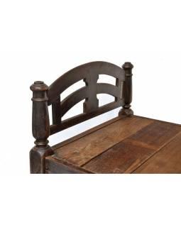Stará postel z teakového dřeva, 198x103x97cm
