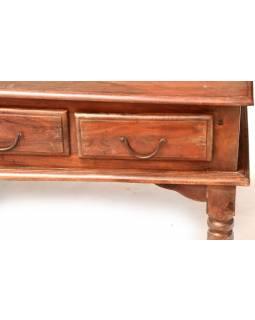 Konferenční stolek z akáciového dřeva, šuplíky z obou stran, 110x60x45cm