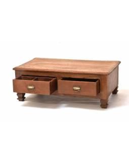 Starý kupecký stolek z teakového dřeva, 92x50x32cm