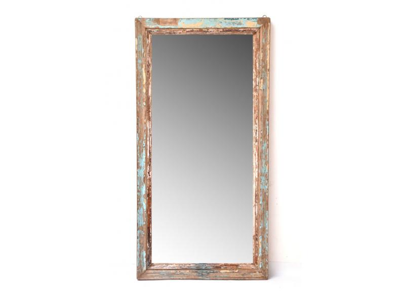 Zrcadlo v rámu z teakového dřeva, 93x7x182cm