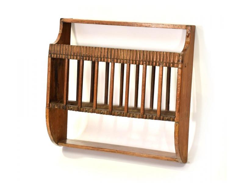 Kuchyňská polička z antik teakového dřeva, 43x15x43cm