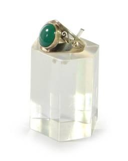 Stříbrný prsten se zdobením vykládaný tyrkysem, AG 925/1000