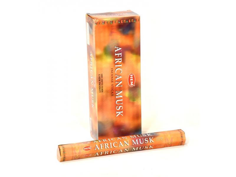 Indické vonné tyčinky African Musk, HEM, 23cm, 20ks