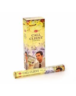 Indické vonné tyčinky Call Clients, HEM, 23cm, 20ks