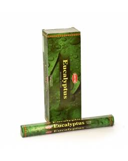 Indické vonné tyčinky Eucalyptus, HEM, 23cm, 20ks