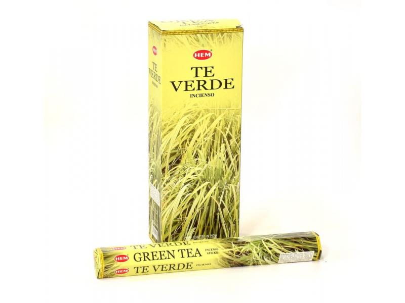 Indické vonné tyčinky Green Tea, HEM, 23cm, 20ks