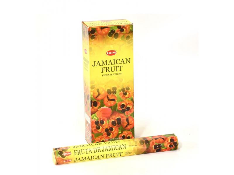 Indické vonné tyčinky Jamaican Fruit, HEM, 23cm, 20ks