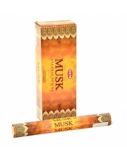 Indické vonné tyčinky Musk, HEM, 23cm, 20ks