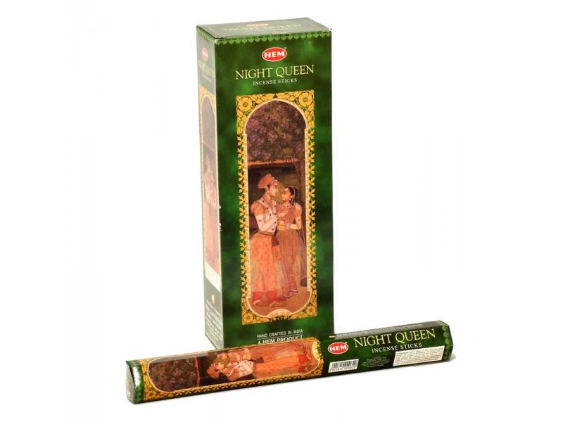 Indické vonné tyčinky Nightqueen, HEM, 23cm, 20ks