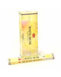 Indické vonné tyčinky White Musk, HEM, 23cm, 20ks