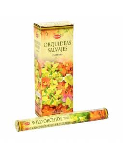Indické vonné tyčinky Wild Orchids, HEM, 23cm, 20ks
