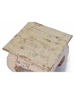 Stolička/stoleček z akáciového dřeva, 25x25x21cm