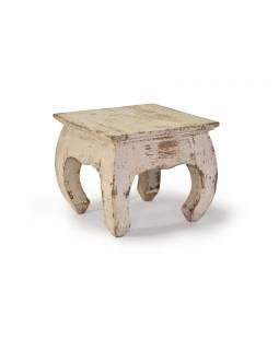Stolička/stoleček z akáciového dřeva, 30x30x26cm