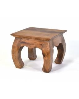 Stolička/stoleček z akáciového dřeva, 30x30x25cm