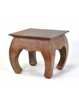 Stolička/stoleček z akáciového dřeva, 35x35x31cm