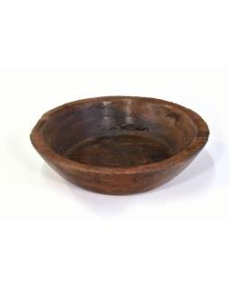 Dřevěná mísa z mangového dřeva vydlabaná z jednoho kusu, 51x51x14cm