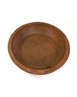 Dřevěná mísa z mangového dřeva vydlabaná z jednoho kusu, 70x70x15cm