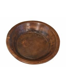 Dřevěná mísa z mangového dřeva vydlabaná z jednoho kusu, 40x40x9cm