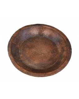 Dřevěná mísa z mangového dřeva vydlabaná z jednoho kusu, 39x39x9cm