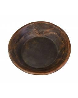 Dřevěná mísa z mangového dřeva vydlabaná z jednoho kusu, 39x39x11cm