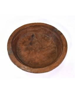 Dřevěná mísa z mangového dřeva vydlabaná z jednoho kusu, 41x41x12cm