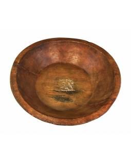 Dřevěná mísa z mangového dřeva vydlabaná z jednoho kusu, 42x42x11cm