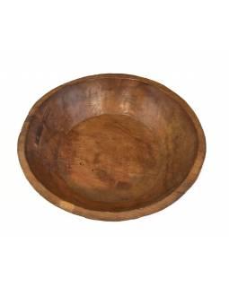 Dřevěná mísa z mangového dřeva vydlabaná z jednoho kusu, 47x47x10cm