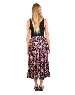 Dlouhá černá sukně s drobným potiskem, žabičkování