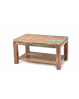 "Stolek z teakového dřeva v ""Goa"" stylu, 89x53x47cm"