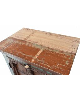 Skříňka z tekového dřeva s původními dvířky, 68x43x119cm